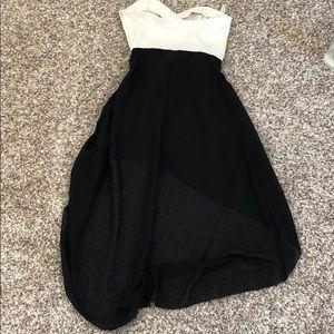 Ali & Kris Dresses - AMAZING CONDITION BLACK AND WHITE STRAPLESS DRESS